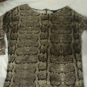 H&M snake skin pattern top zip back S